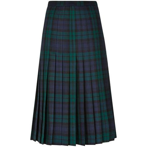 tartan all pleated skirt lochcarron of scotland