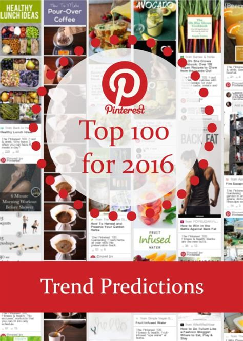 popular trends 2016 2016 pinterest trend predictions the pinterest top 100