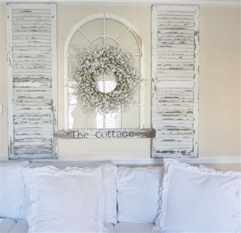 Shutter Wall Decor by Decorating With Shutters Taking Shutters And An Arch Window For A Focal Point