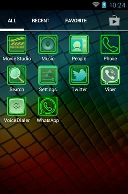 fluo green android theme for holo launcher | androidlooks.com