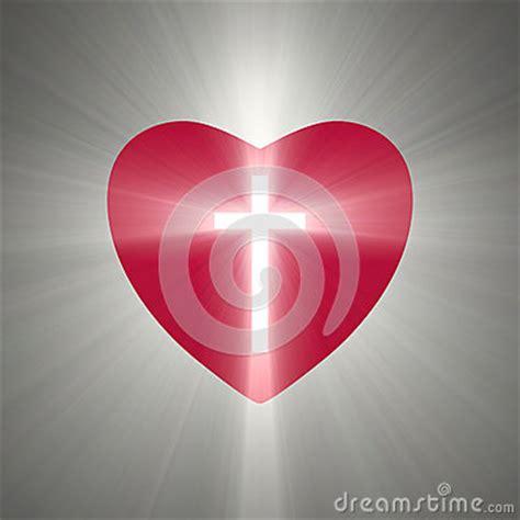 heart shape   shining cross  stock illustration