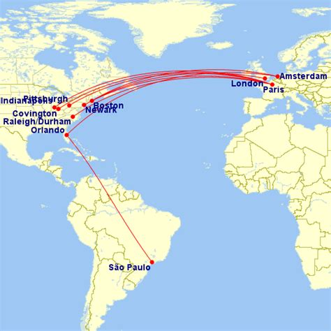 delta air lines will use these aircraft for each route in 2018
