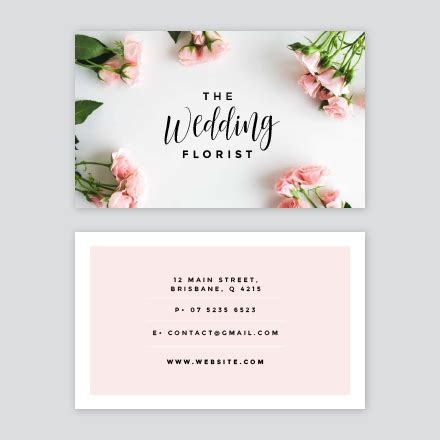 Flower Business Card Template by The Wedding Florist Business Card