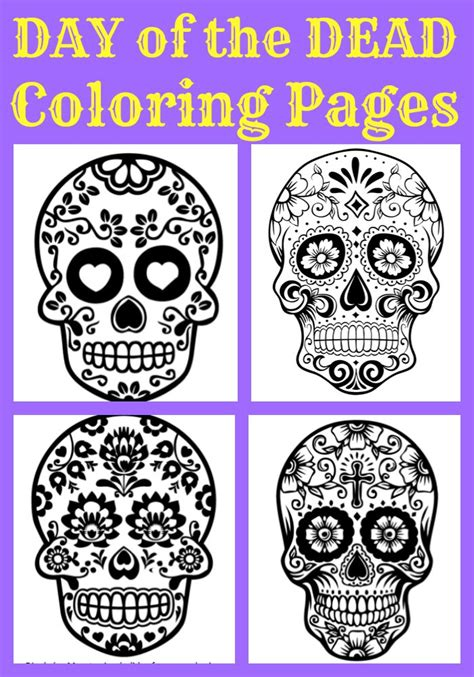 halloween coloring pages day of the dead day of the dead archives surviving a teachers salary