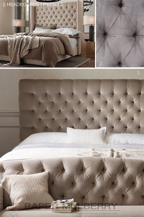 how to make a headboard taller the paper mulberry headboards padded and upholstered