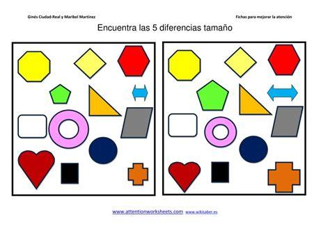 imagenes sensoriales de forma y tamaño encuentra las diferencias color forma posicion y tama 241 o