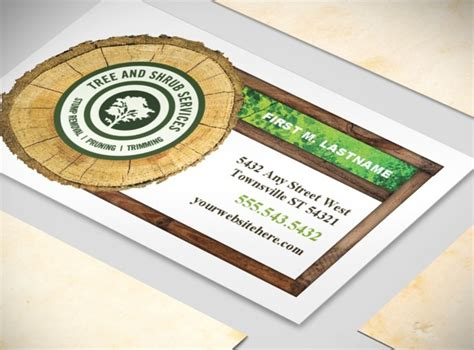 tree service business cards templates tree aborist services business business card templates