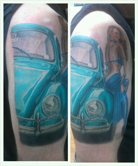 skinworx tattoo my pin up classic vw created and done by greg