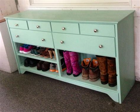 Shoe Dresser by Dresser Painted And Turned In To A Shoe Rack This