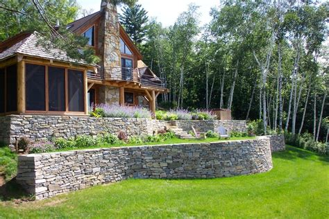 Landscape Timbers Maine Retaining Wall Designs Ideas Free Retaining Wall Designs