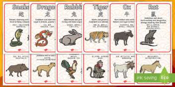 new year animal traits new year zodiac animal characteristics display posters