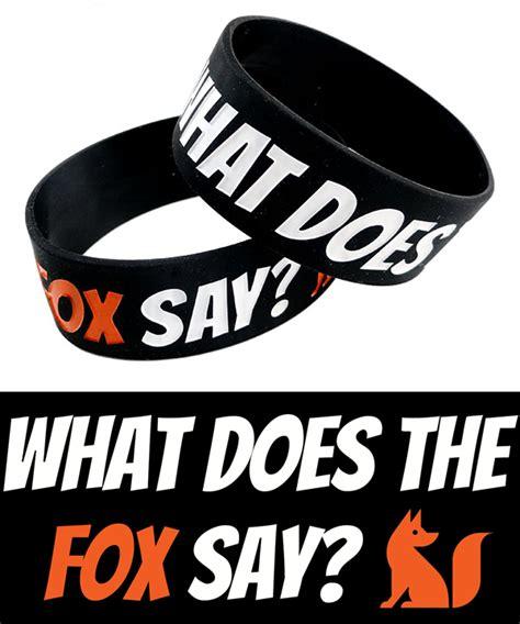 Bird Amazing Rubber St what does the fox say bracelet wide rubber bracelet
