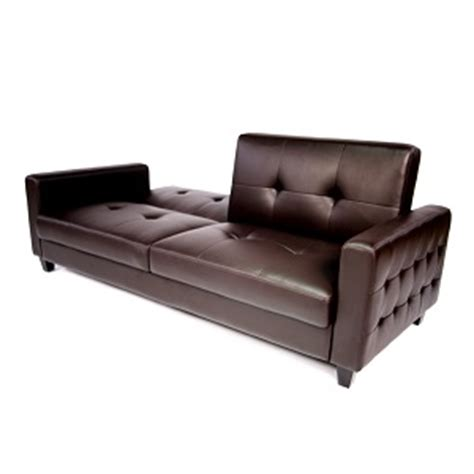 Tufted Faux Leather Sofa Bed Brown Bachelor On A Budget Tufted Faux Leather Sofa