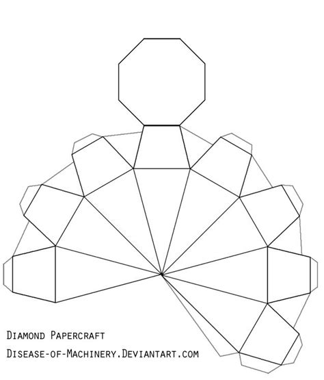home design free gems diamond or gem papercraft by disease of machinery