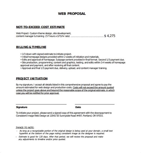 it proposal template free print email
