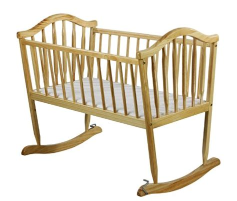 Wooden Rocking Crib by Wood Baby Cradle Infant Rocker Rocking Crib Newborn