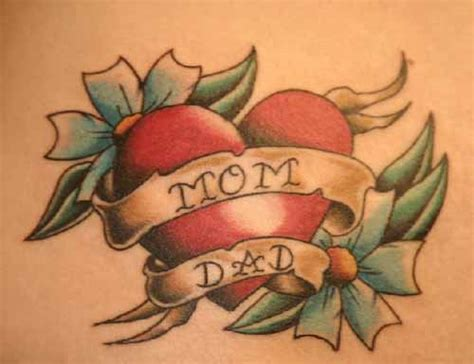heart mom tattoo designs banner and