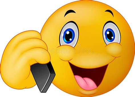 clipart cellulare conversazione sorridente dell emoticon sul telefono