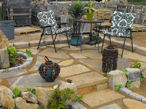 sand set flagstone patio outdoor spaces pinterest