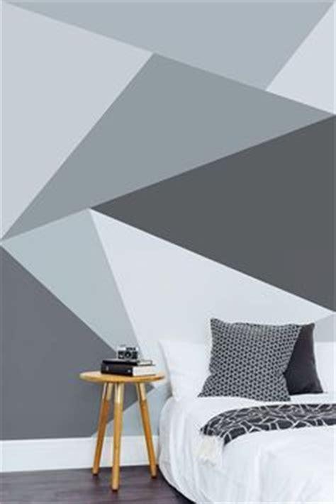 triangle bedroom design geometric triangle wall paint design idea with tape