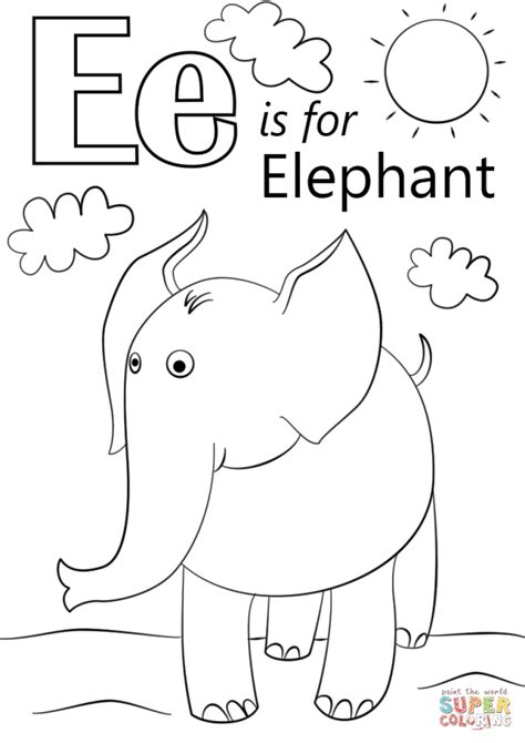 coloring pages of letter e get this letter e coloring pages elephant bfm02