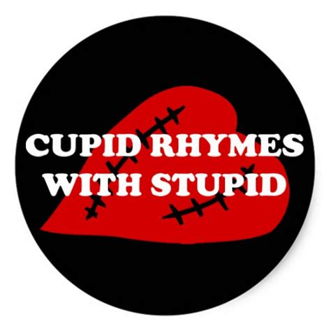 anti s day cupid rhymes with stupid classic