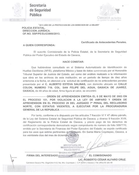 carta de antecedentes no penales 2016 antecedentes no penales distrito federal 2016 carta de
