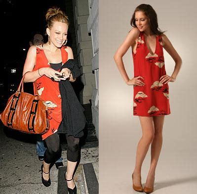 Copy Hilary Duffs by Confashions From Kuwait Copy Cat Hilary Duff S Dress