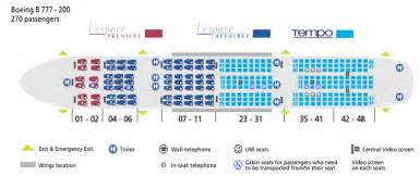 Boeing 777 Floor Plan United Airlines Boeing 777 200 Seating International