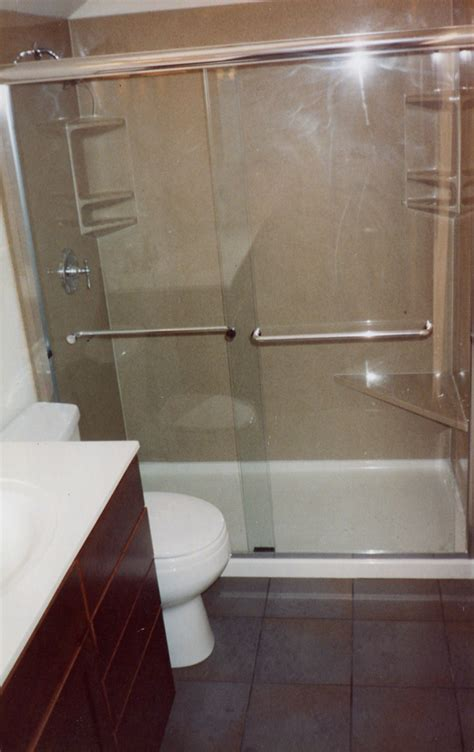 convert bathtub to shower stall former tub area converted to shower could you get used to
