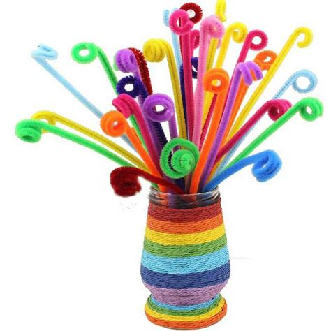 Diy Craft Shilly Plush Sticks Pipe 100pcs 100pcs chenille craft stems pipe cleaners 30cm lots of colours for children ebay