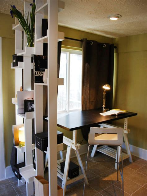 Small Home Office Buildings 20 Great Ideas For Partition With Shelves