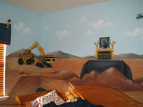Wall Mural Bedroom the dream painter construction site mural