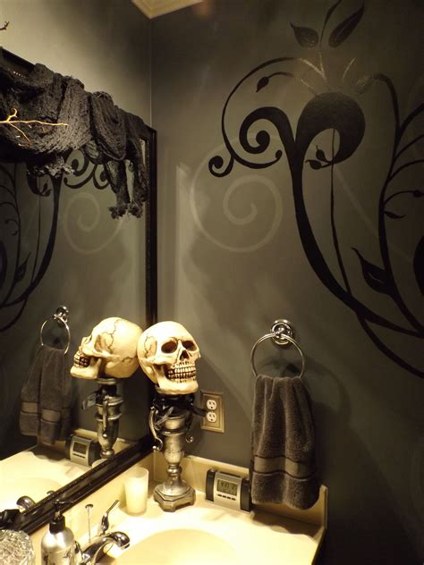 halloween bathroom decor diy on a budget pinterest