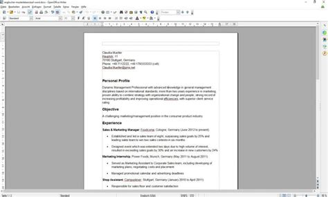 Job Resume Format In English by Lebenslauf Englisch Download Freeware De