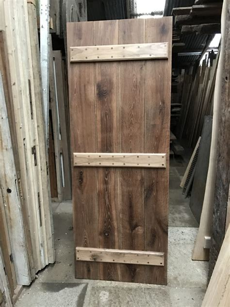 Handmade Oak Doors - handmade amonia treated oak ledge plank door womack