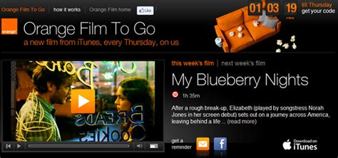 film gratis itunes uk orange offers free itunes movie downloads every thursday