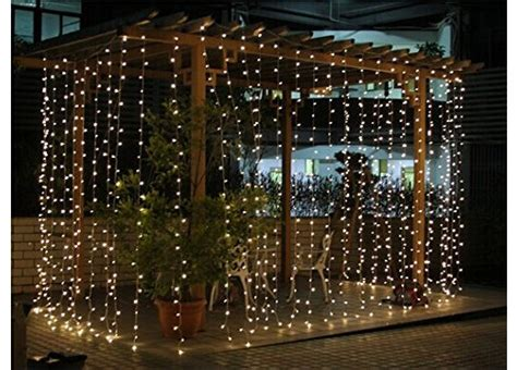 commercial curtain lights connectable 3x3m rubber cable outdoor curtain lights