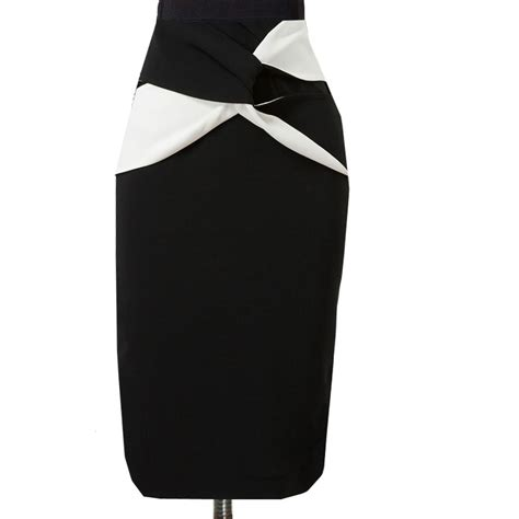 black and white pattern pencil skirt pencil skirt outfits tumblr and crop top dress pattern