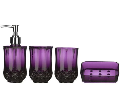 purple bathroom sets buy premier housewares cristallo purple plastic bathroom