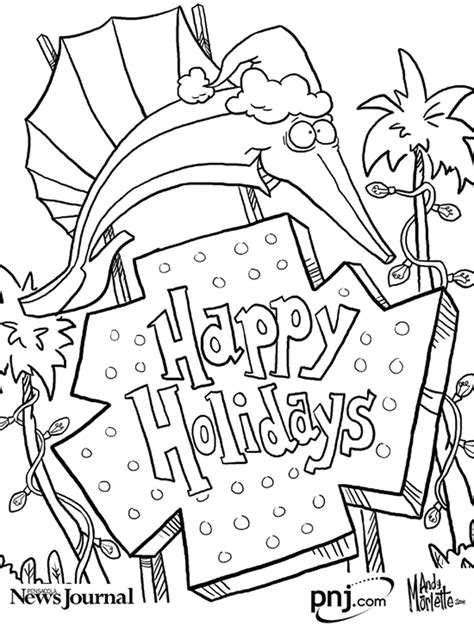 christmas themed coloring page color this pensacola themed christmas scenes pensacola
