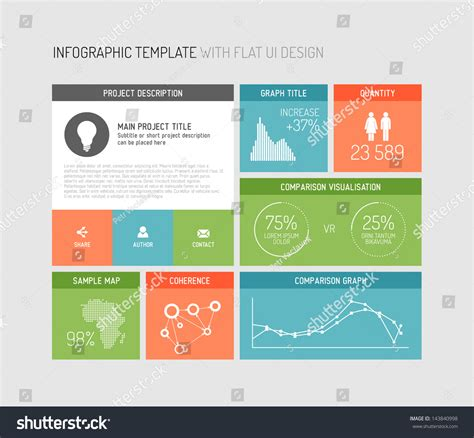 user interface design document template vector flat user interface ui infographic template