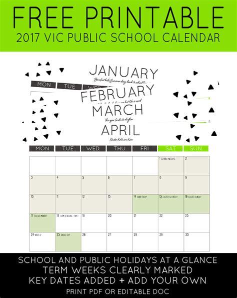printable calendar victoria 2016 2017 vic public school holidays calendar maxabella loves