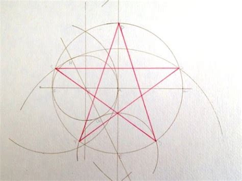 How To Make A Five Point Out Of Paper - pentagram construction