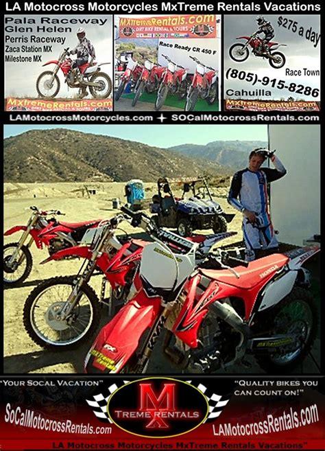 rent motocross bike ca la motocross supercross dirt bike rentals los