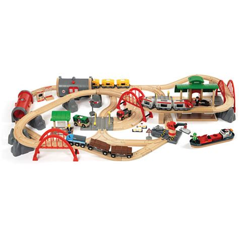 brio train track set brio deluxe railway set 33052 schylling