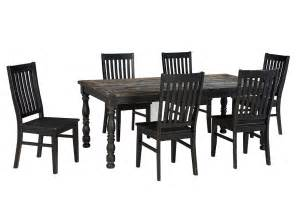 Rectangular Dining Table And 6 Chairs Furniture Liquidators Baton Rouge La Clayco Bay Black