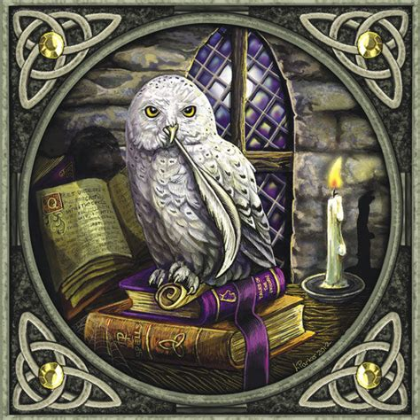 magical snowy owl greeting card by lisa parker
