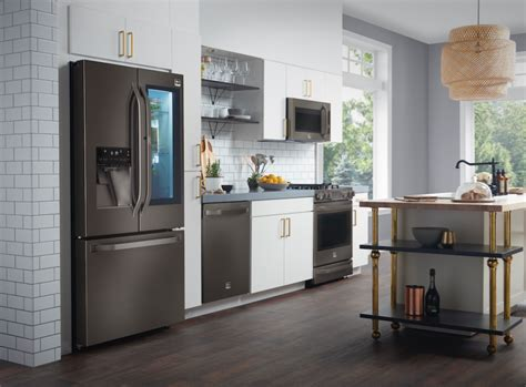 Black Kitchen Cabinets With Stainless Steel Appliances Black Stainless Steel Appliances Are The Next Big Trend For Kitchens Builder Magazine