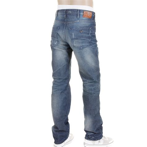 Denim Jn armani j21 mid blue vintage denim jean n6j21 2e ajm0040 at togged clothing